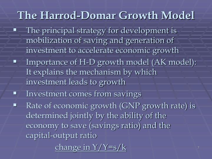 The Harrod-Domar Growth Model