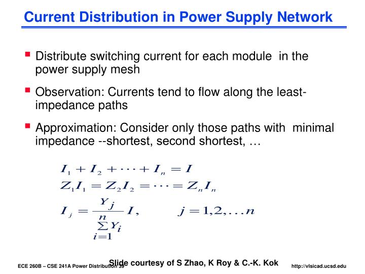 Current Distribution in Power Supply Network
