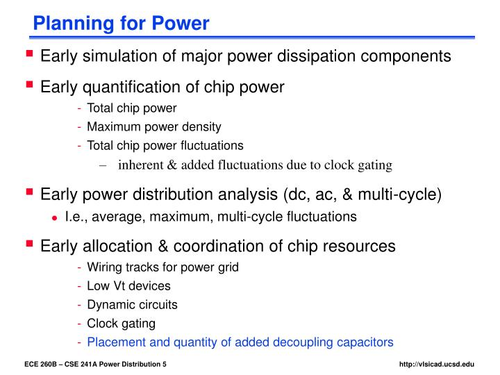 Planning for Power