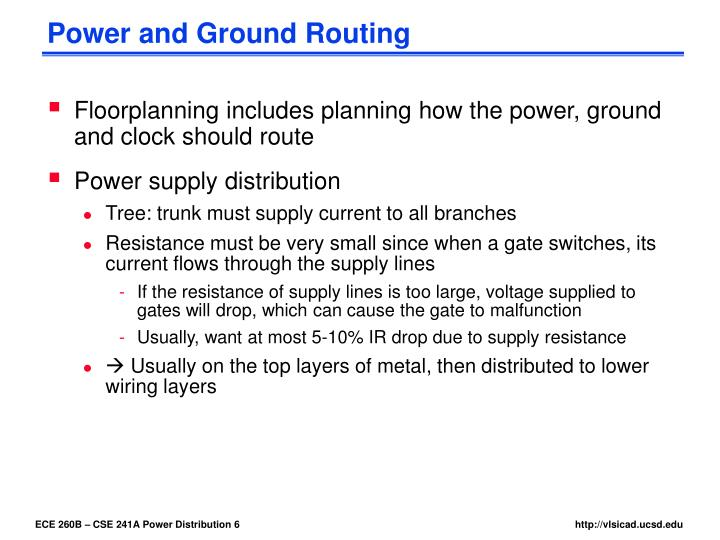 Power and Ground Routing