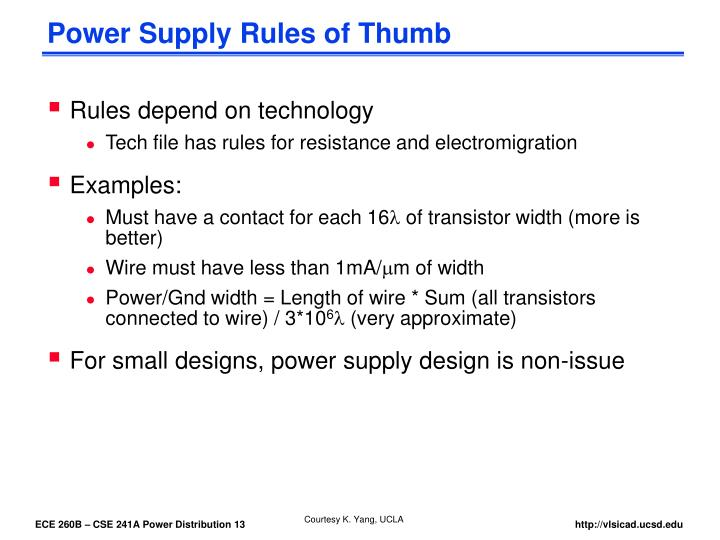 Power Supply Rules of Thumb