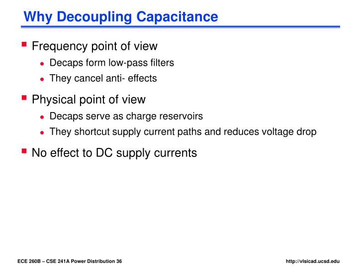 Why Decoupling Capacitance