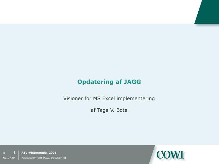 Opdatering af JAGG