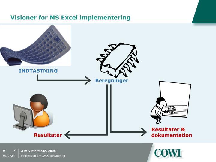 Visioner for MS Excel implementering
