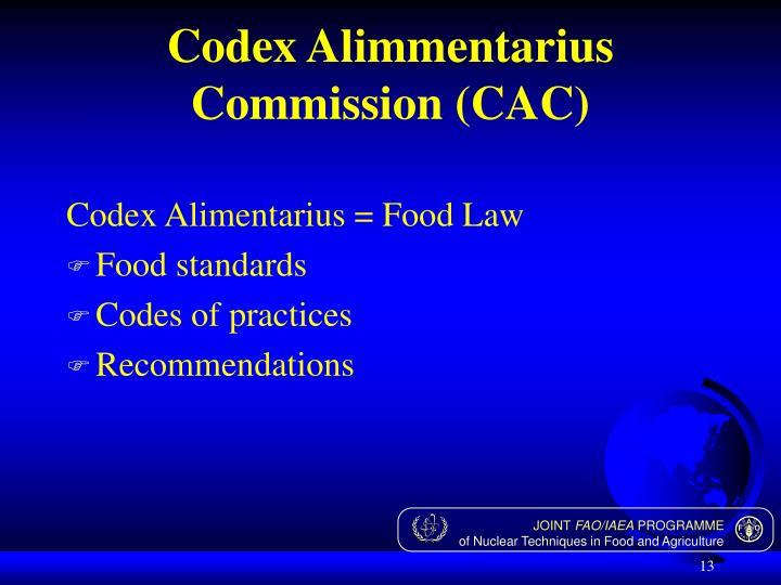 Codex Alimmentarius Commission (CAC)