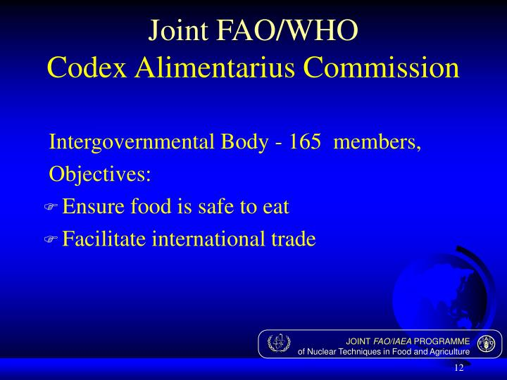 Joint FAO/WHO
