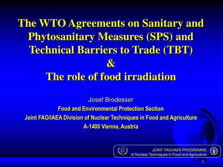 The WTO Agreements on