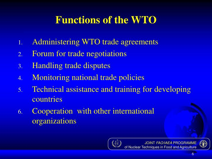 Functions of the WTO