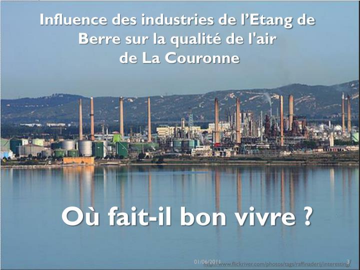Influence des industries de l'Etang de Berre sur la qualité de l'air