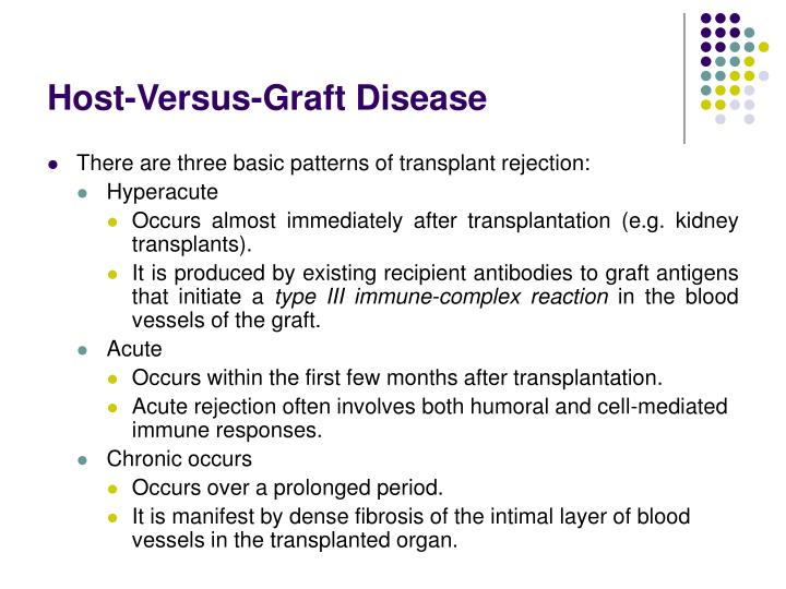 Host-Versus-Graft Disease