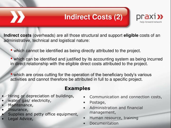 Hiring or depreciation of buildings,