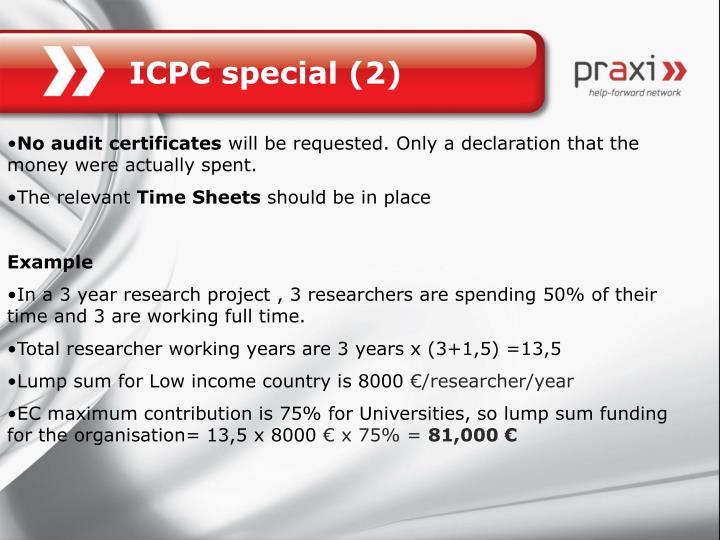 ICPC special (2)
