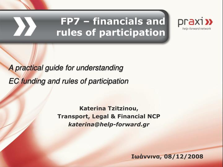 Katerina tzitzinou transport legal financial ncp katerina@help forward gr 08 12 2008