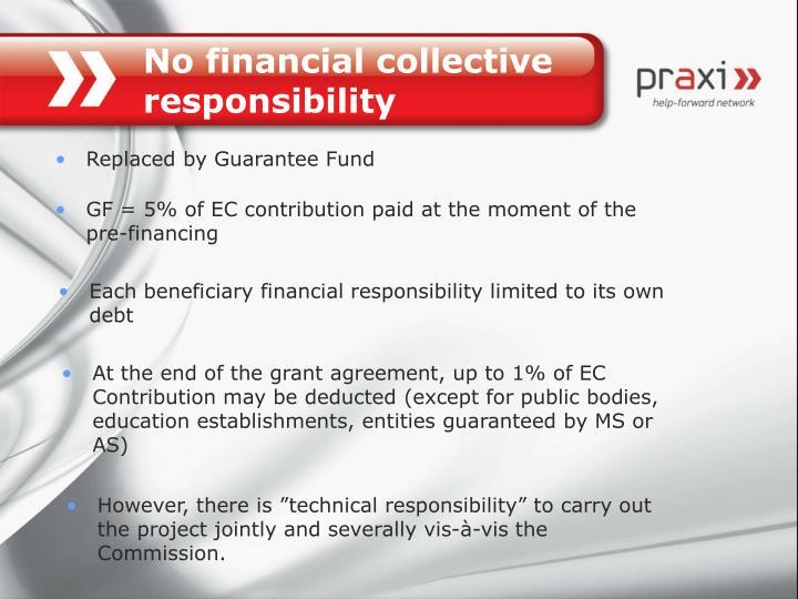 No financial collective responsibility