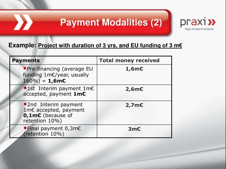 Payment Modalities (2)