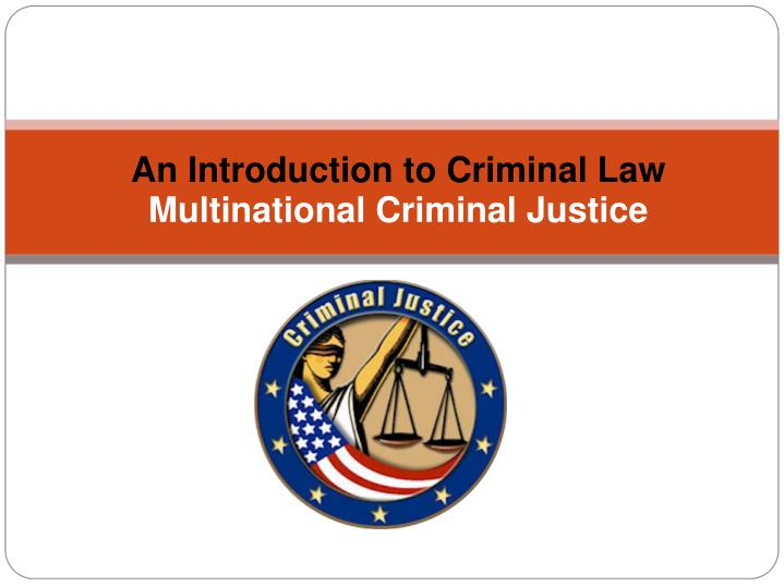 an introduction to the us criminal
