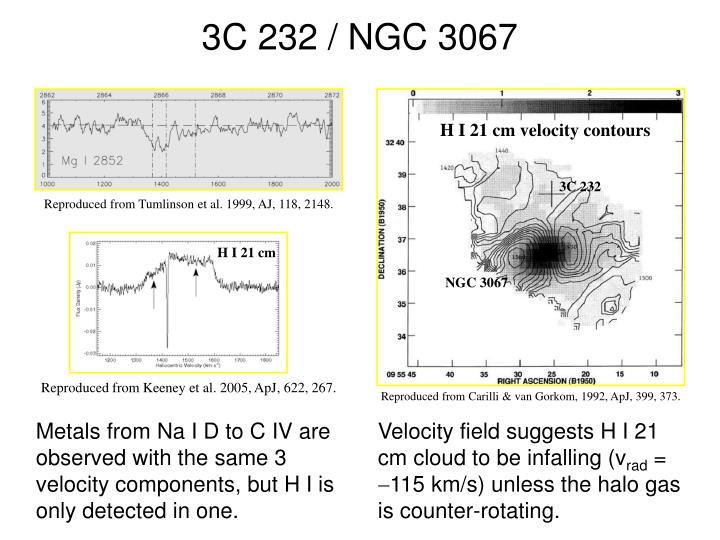 H I 21 cm velocity contours