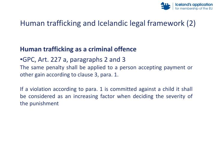 Human trafficking and Icelandic legal framework (2)