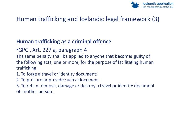 Human trafficking and Icelandic legal framework (3)