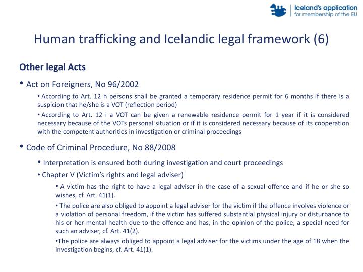 Human trafficking and Icelandic legal framework (6)