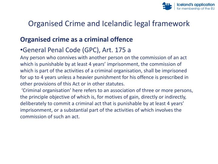 Organised Crime and Icelandic legal framework