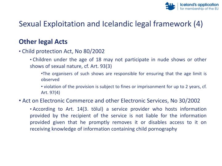 Sexual Exploitation and Icelandic legal framework (4)