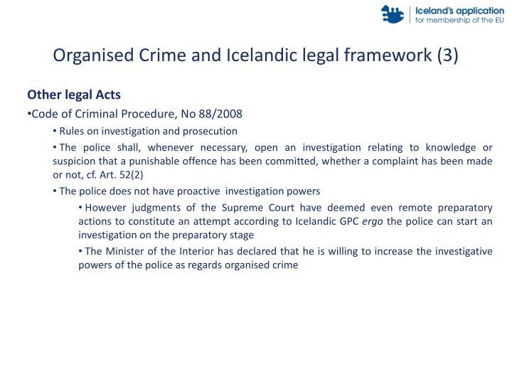 Organised Crime and Icelandic legal framework (3)