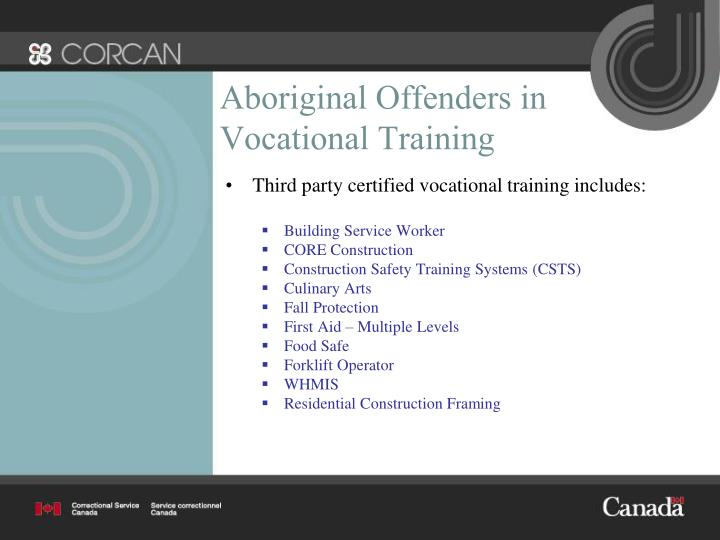 Aboriginal Offenders in Vocational Training