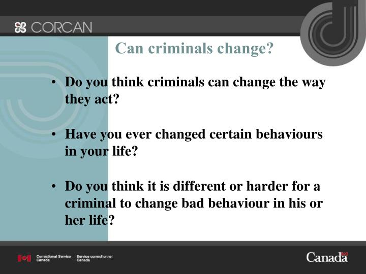Can criminals change?