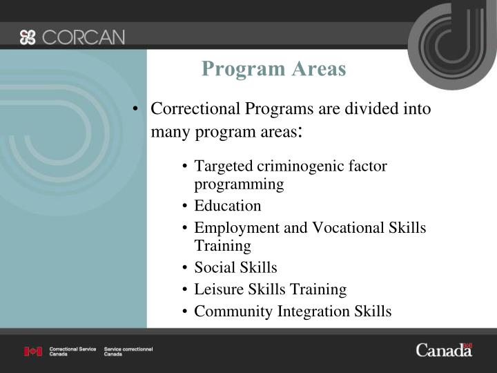 Program Areas