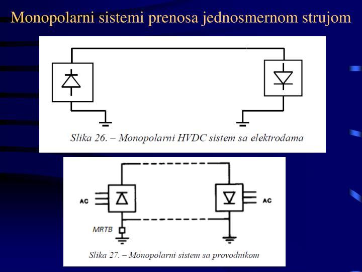 Monopolarni sistemi prenosa jednosmernom strujom