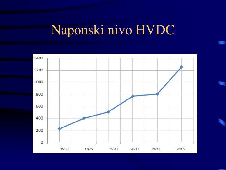 Naponski nivo HVDC