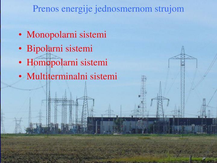 Prenos energije jednosmernom strujom