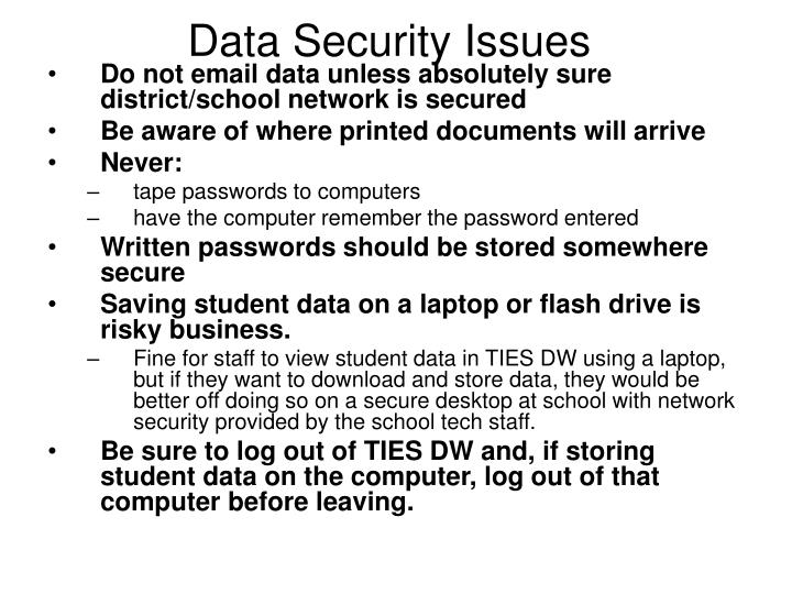 data security issues