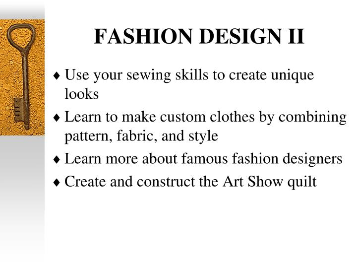 FASHION DESIGN II