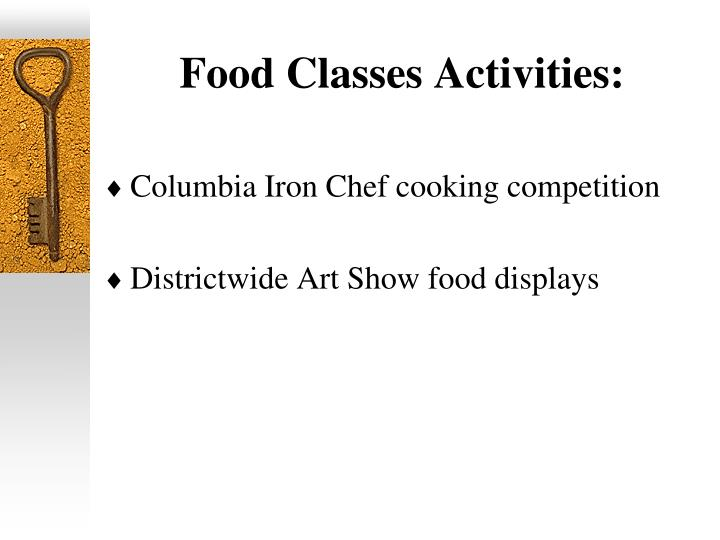 Food Classes Activities: