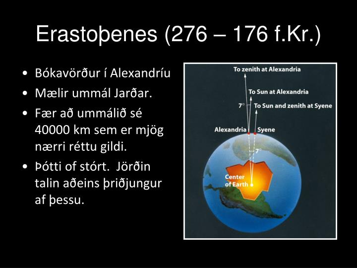 Erastoþenes (276 – 176 f.Kr.)
