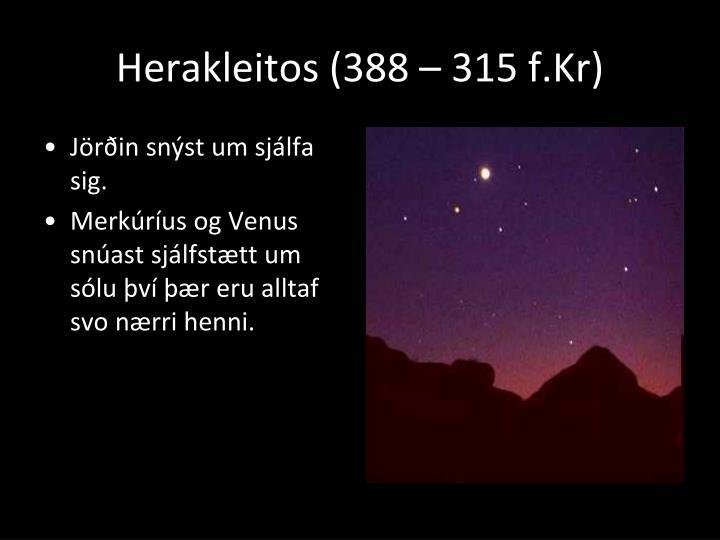 Herakleitos (388 – 315 f.Kr)
