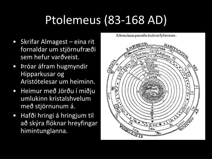 Ptolemeus (83-168 AD)