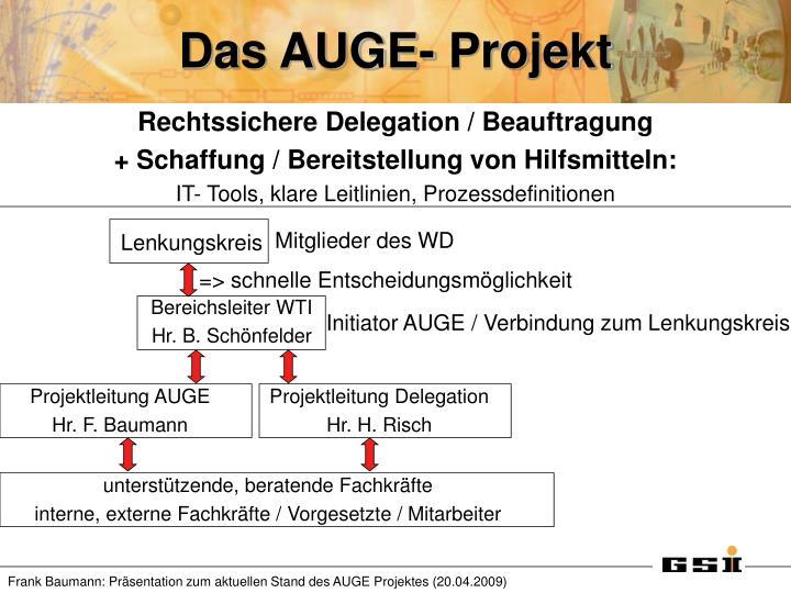 Das AUGE- Projekt