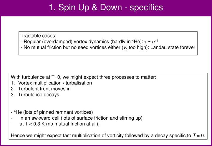 1. Spin Up & Down - specifics