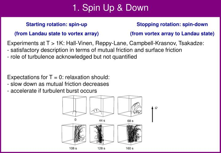 1. Spin Up & Down