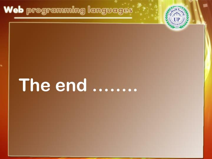 The end ……..
