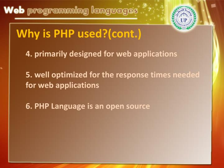 4. primarily designed for web applications