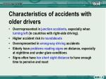 characteristics of accidents with older drivers