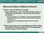 why are risk takers so difficult to influence