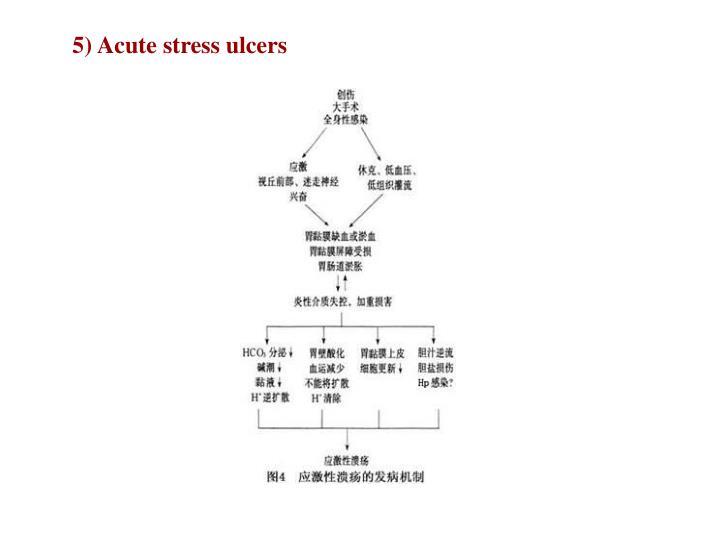 5) Acute stress ulcers