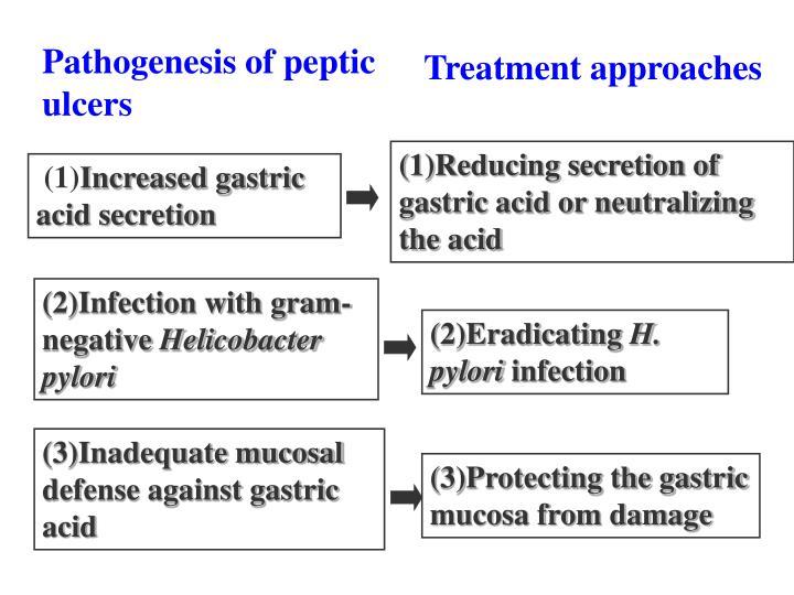 Pathogenesis of peptic ulcers