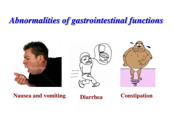 Abnormalities of