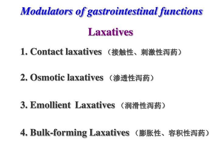 Modulators of